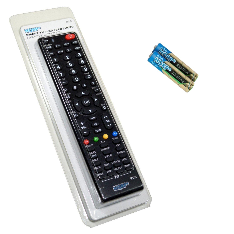 """HQRP Remote Control for TCL LE58FHDE3000X LE58FHDE3010 LE46FHDE5510  LE46FHDE5300 LE46FHDE5310 LE46FHDP21TA 58"""" 46"""" LCD LED HD TV Smart 1080p 3D"""