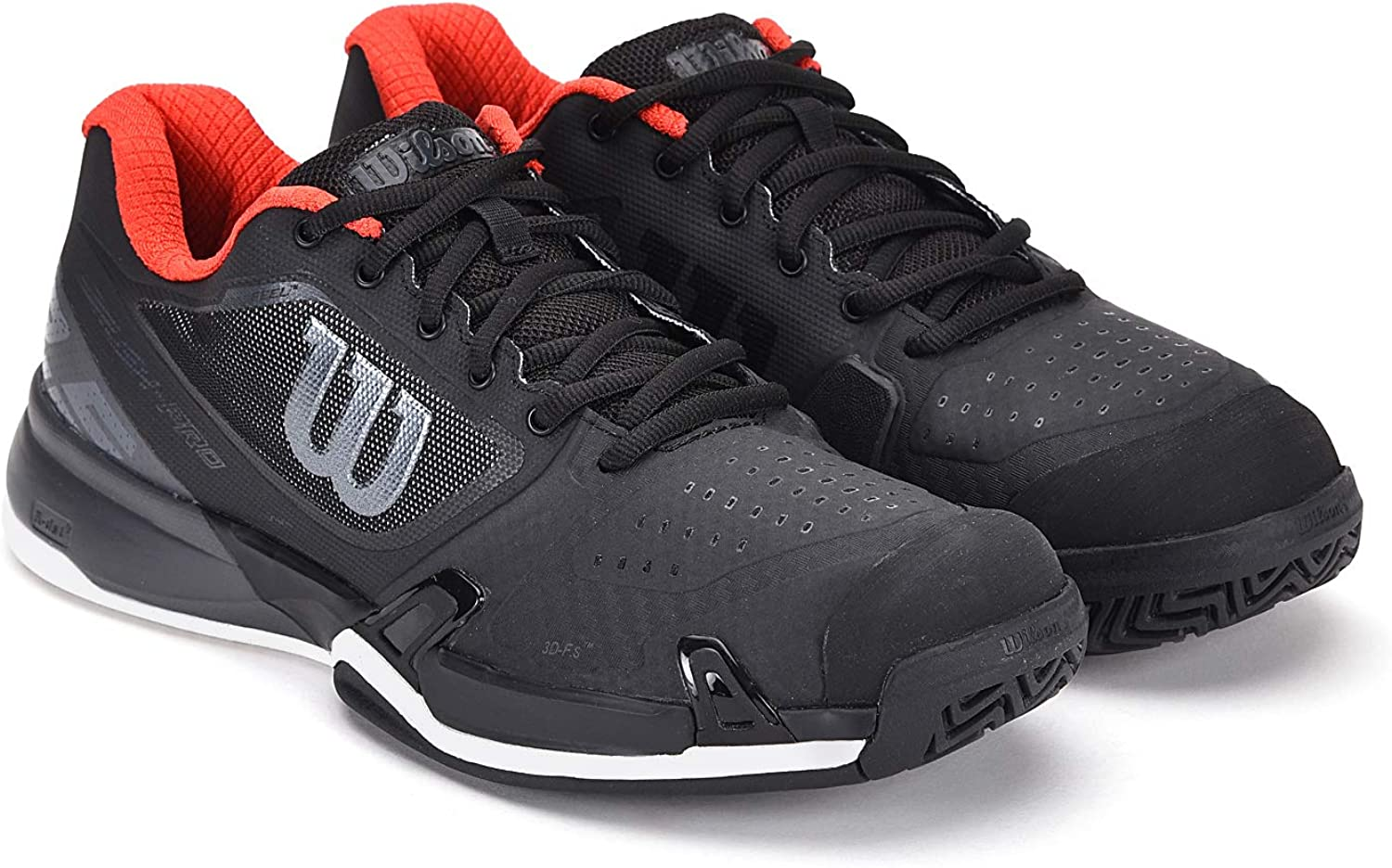 WILSON Men`s 2019 Rush Pro 2.5 Tennis Shoes Black and Red