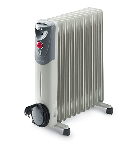 Fagor RN2500 - Radiador de aceite, 2500 W, 11 elementos, 3 posiciones, doble termostato, efecto chimenea, protección antiheladas, recogecables, color ...