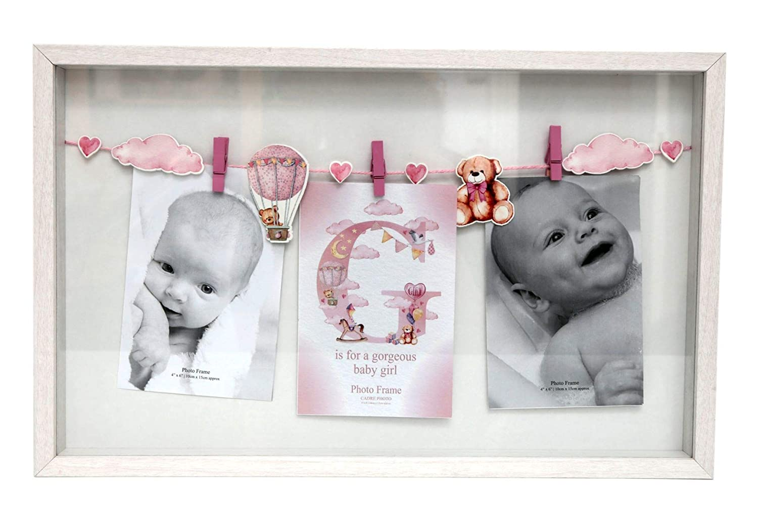 CHIC PINK BABY GIRL// BLUE BABY BOY TAG PHOTO PICTURE FRAMES GIFT PRESENT NURSERY