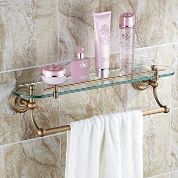 Cosmetics shelf/Double Glass Shelf/Bathroom Stands/European-style ...