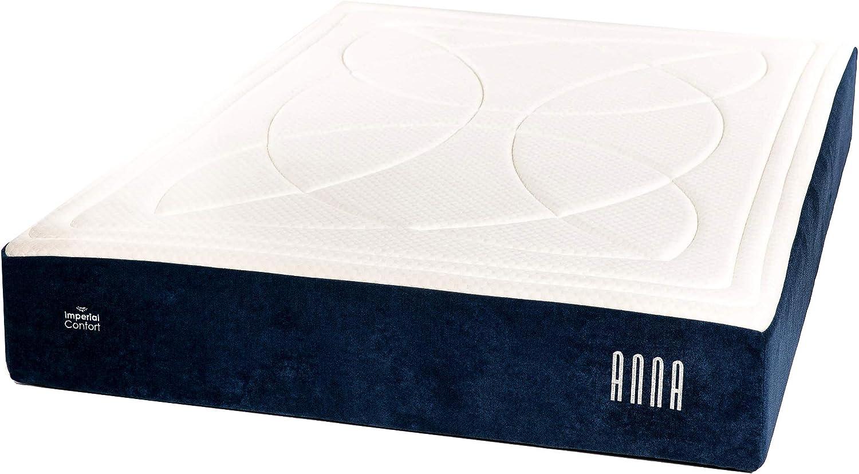 Imperial Confort Elite Anna - Colchón de muelles ensacados y viscoelástica con 7 zonas de confort - Grosor 28 cm - 135x190