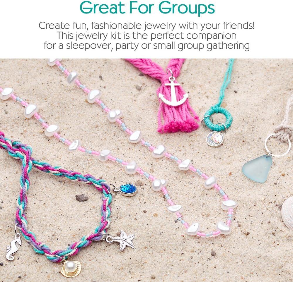 Create 10 Creativity for Kids Mermaid Tail Jewelry Maker Jewelry Pieces