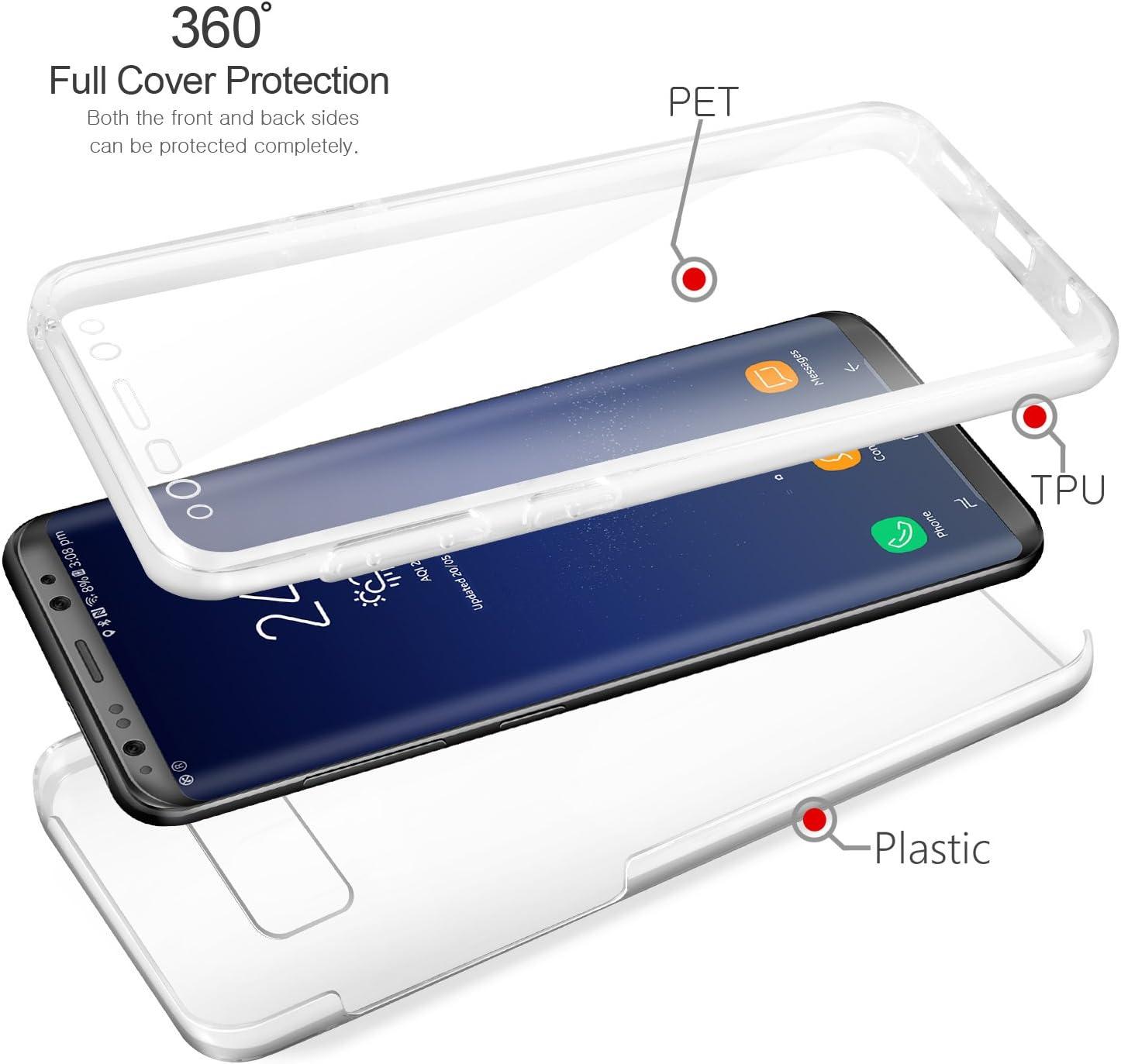 Nadoli Coque pour Galaxy S8,G/éom/étrique Mod/èle Pur Couleur Faux Cuir /Él/égant Livre Portefeuille Protecteur Etui Housse avec Support et Porte-Cartes pour Samsung Galaxy S8