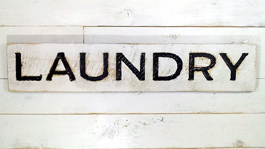 Start Your Laundry Room Decor with a Big Wooden Sign
