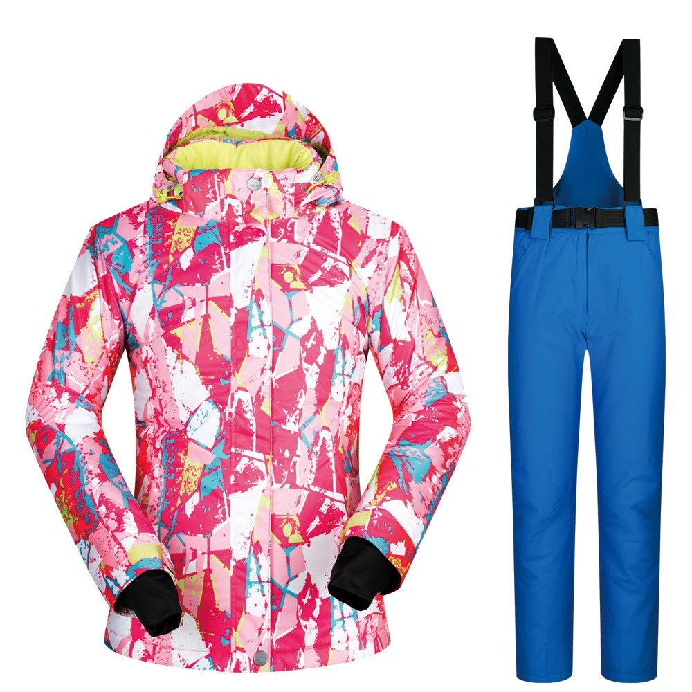 Dfghbn Giacca da da da Sci e Pantaloni Coloreeati da Donna Tuta da Sci da Donna Tuta da Sci Invernale Traspirante, Impermeabile e Traspirante Resistente all'Usura (Coloreee   Powder Pants, Dimensione   XL)B07L9LY4R3Small blu Pants | eccellente  | Alta qualità  4d48d4