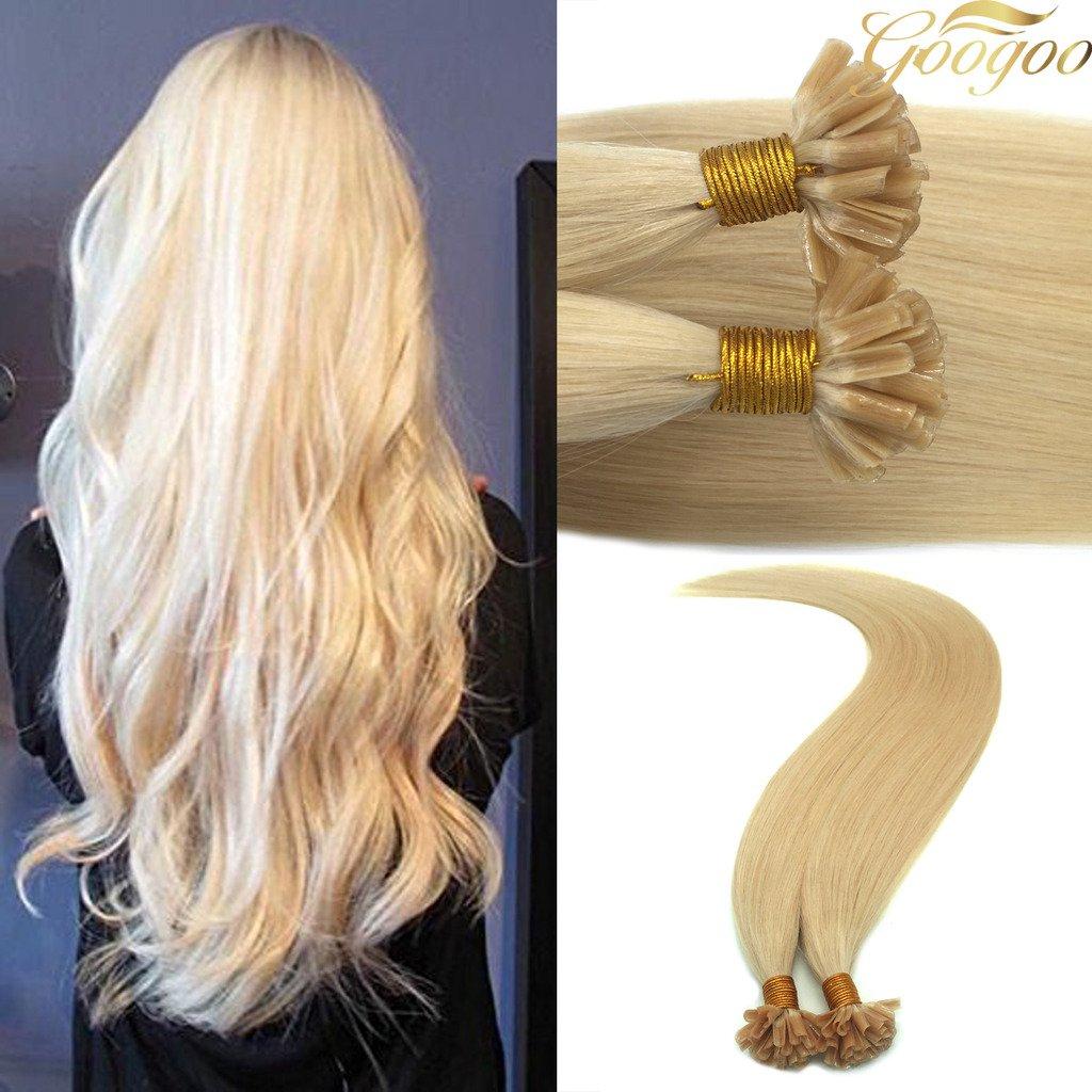 Amazon Googoo Blonde U Tip Hair Extensions 27 Honey Blonde