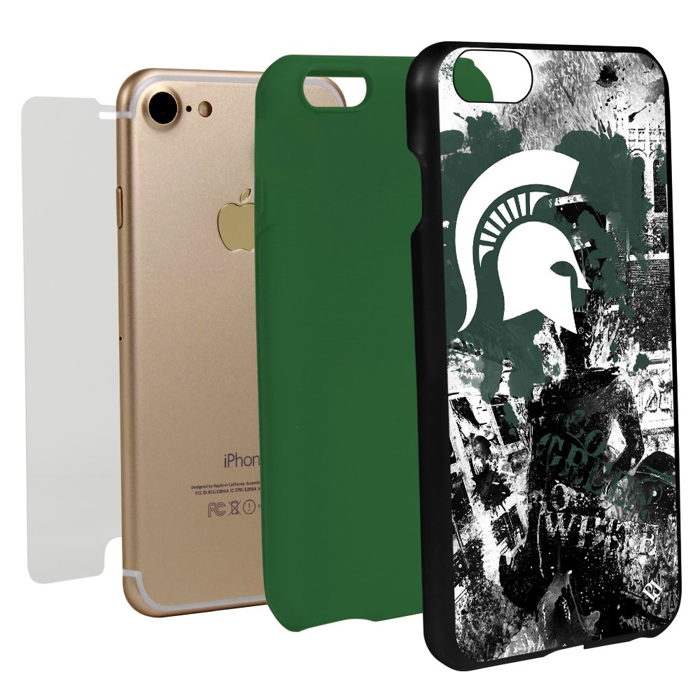 Guard Dog Michigan State Spartans Paulson Designs Spirit Case for iPhone 7/8 with Guard Glass Screen Protector by Guard Dog