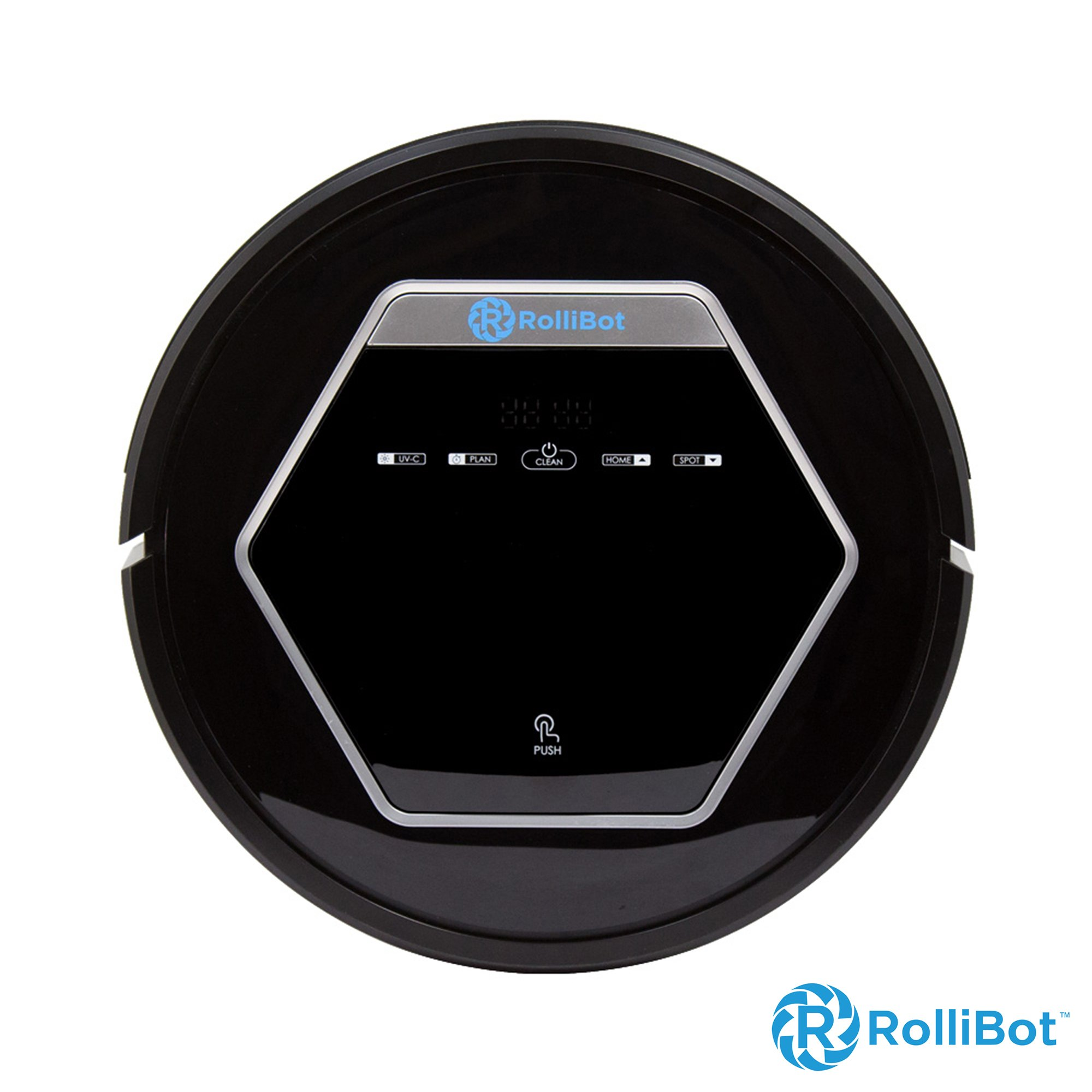 Rollibot BL618- Quiet Robotic Vacuum Cleaner. Vacuum's, Sweeps, Mops with UV Light Sterilization for Hardwood, Tile, and Linoleum - Black (Certified Refurbished) by Rollibot