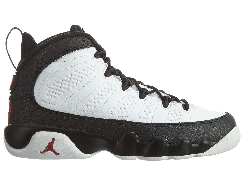Amazon.com | Jordan 302359-112: Retro 9 Big Kids Sneakers White/Red/Black  (6 M US Big Kid) | Basketball