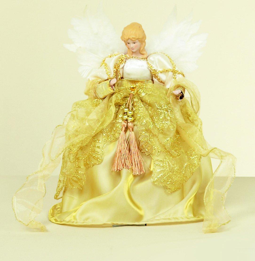 Luxury Christmas 28cm albero di Natale, a forma di angelo, oro PD