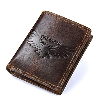Huahua Wallet Carteras Hombre, Monedero de Cuero con Tapa ...