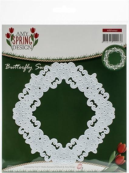 Amy Design Spring Butterfly Swirl Frame Cutting Die ADD10041