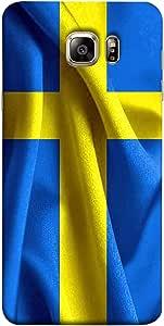 جراب ColorKing Football Sweden 01 أزرق اللون لهاتف Samsung Note 5