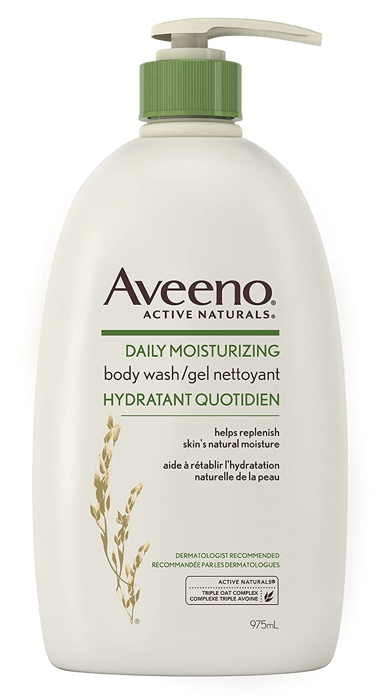 Aveeno Exfoliating Body Wash, Active Naturals Body Scrub for Dry Skin, Soap Free, 532 mL Johnson & Johnson