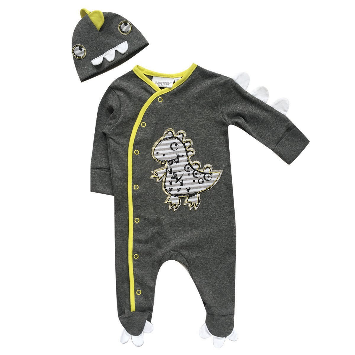 Baby Boys Dinosaur Themed Sleepsuit Set Babytown