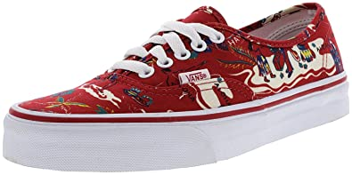 ef70c609df Vans Authentic Hoffman Red Happy Hawaii Ankle-High Canvas Skateboarding Shoe  - 8M 6.5