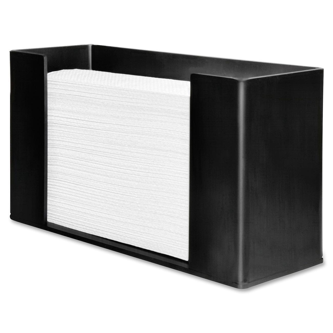 Genuine Joe GJO11524 Acrylic C Fold/Multifold Paper Towel Dispenser, 11-1/2'' Length x 4-3/32'' Width x 6-51/64'' Height, Black (3)