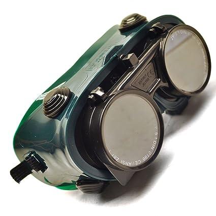 Gafas de soldadura de gas gafas lentes Flip soldador soldadura Seguridad Corte TE186