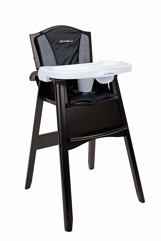 Eddie Bauer 03338CNGB Classic Wood High Chair – Night Blue Dorel Juvenile
