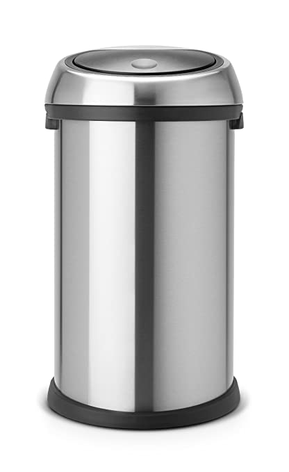 Brabantia Touch Bin 50 Liter Wit.Brabantia Touch Bin 50 L Matt Steel
