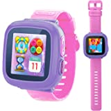 Game Smart Watch for Kids Children Boys Girls with Camera 1.5'' Touch 10 Games Pedometer Timer Alarm Clock Toy Wrist Watch Health Monitor (Pink)