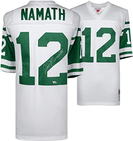 3aea7e47 Image Unavailable. Image not available for. Color: Joe Namath New York Jets  Autographed White Mitchell & Ness ...