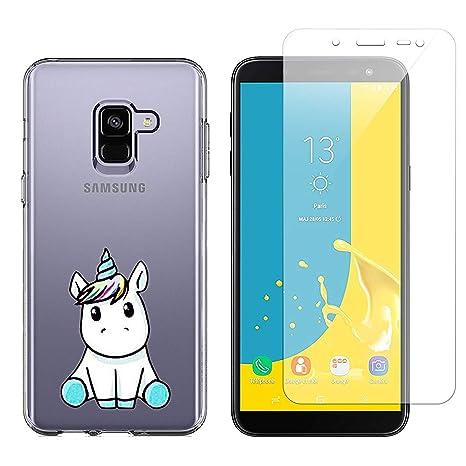 crisant Coque Samsung Galaxy J6 2018 Licorne Mignonne Impression Souple TPU  Silicone Anti-Rayures Protection 0f49e2a84f56