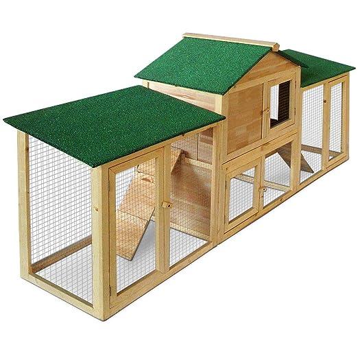 Adaptable jaula para conejos Conejera - 2 Plantas - cajón ...
