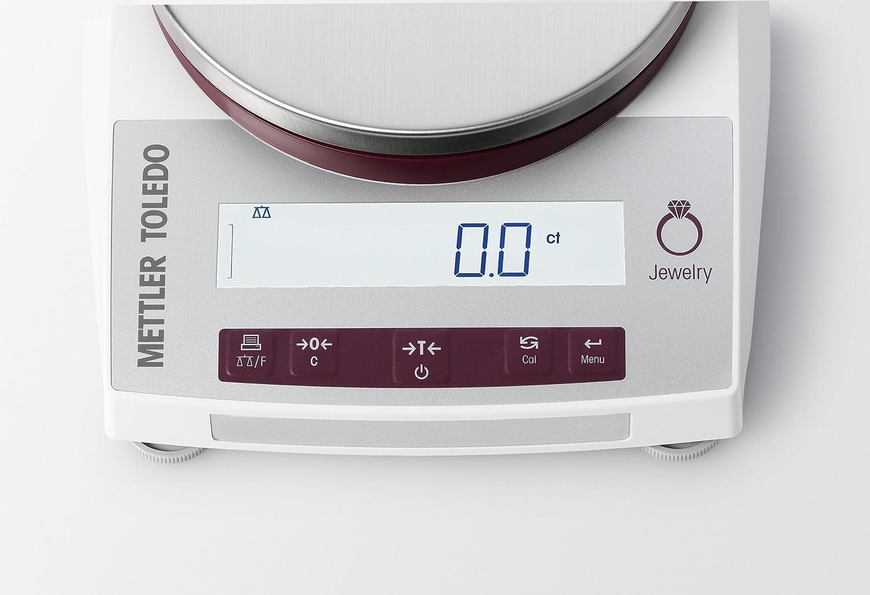 Mettler Toledo jl6001ge/un gramo escala - Legal Para Trade - gramo - Ounce - DWT - carat - Libra (LB) - joyas escala - 6200 g (Gr.) capacidad - 0,01 gr ...