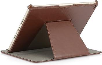 StilGut Ultraslim Case (V2), custodia iPad Air 2 con funzione di supporto e appoggio presentazione per Apple iPad Air 2, cognac vintage
