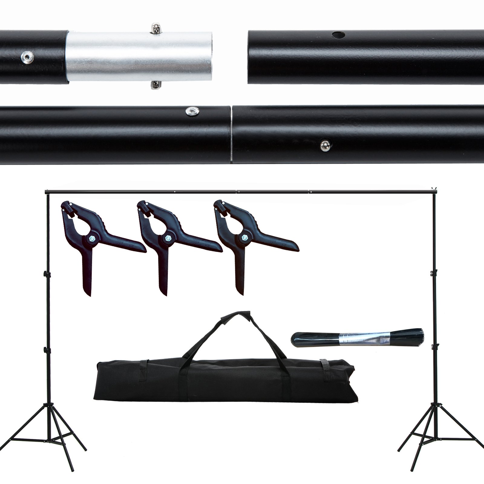 SUNCOO Photo Studio 10 Ft Photography background System Stand Support Crossbar Kit with Carry Bag Photography Studio. by SUNCOO