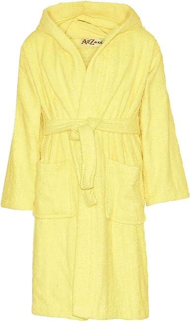 Albornoz con capucha para niños y niñas, de algodón suave, de rizo ...