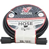 PEGGAS - 3200 PSI - 25FT x 1/4 Inch - Pressure Washer Hose - M22 (14MM & 15MM) - Replacement Hose - Electric Pressure…