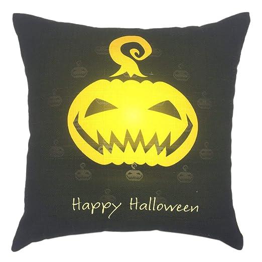 funny cat Funda de cojín Decorativa Cuadrada de Halloween ...