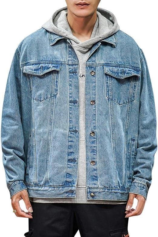 FOMANSH デニムジャケット メンズ Gジャン ジャケット ジージャン カジュアル 長袖 綿 アウター 大きいサイズ ブルー 春