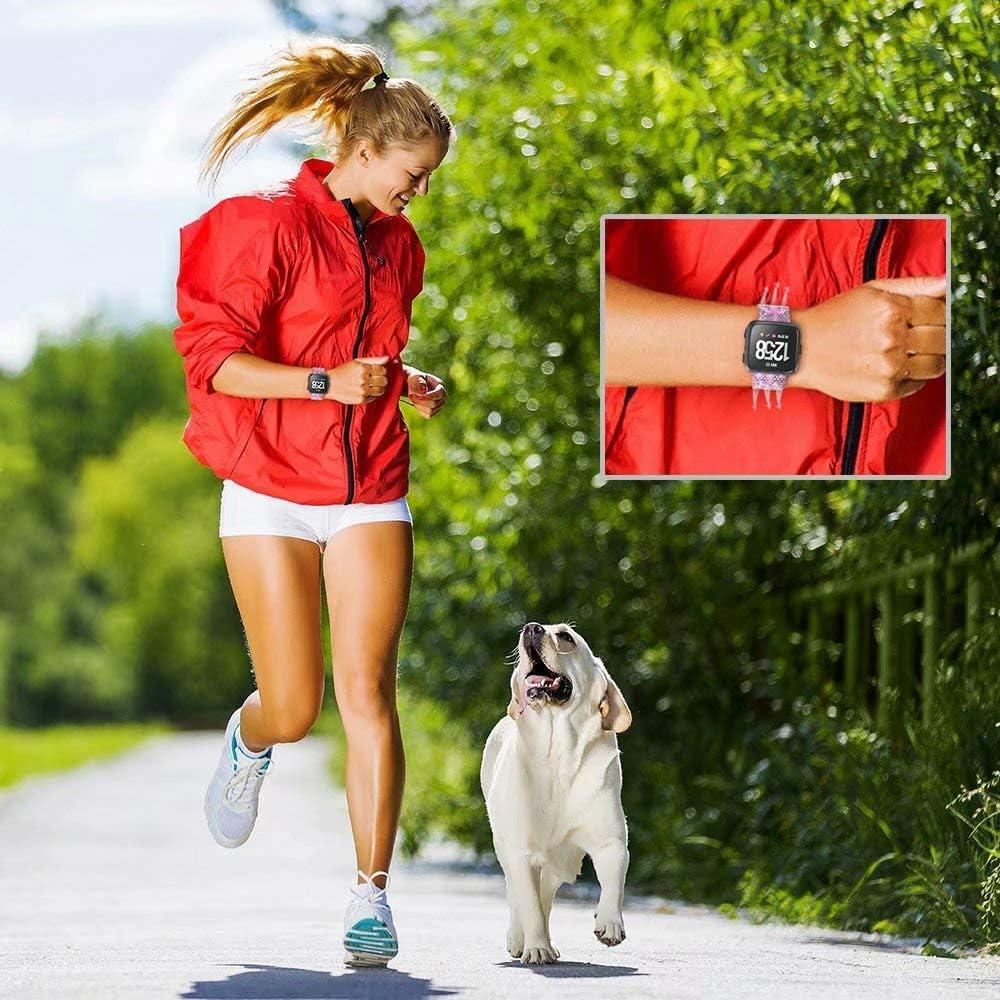YANGSANJIN Cinturino in TPU alla Moda Traspirante per Cinturino Sportivo Cinturino di Ricambio Braccialetto per Accessori Smart Watch Fitness Wristband Flower04