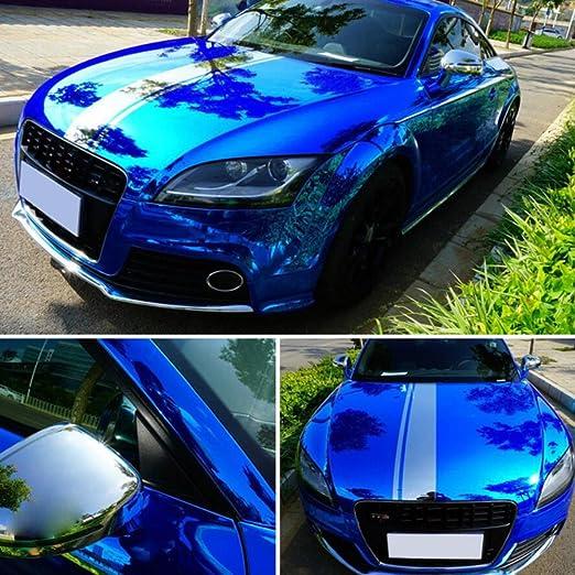 professionale mobili Pellicola adesiva in vinile blu metallizzato 150 x 40 cm per auto alta qualit/à ADAILY CAR Covering termoformabile senza bolle D