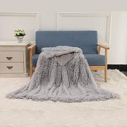 e2238f756c Amazon.com  TiTa-Dong Shaggy Long Fur Throw Blanket