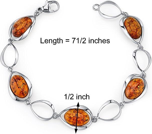 Sterling Silver YellowButterscotch Amber Bracelet Not Modified Amber 28,1g Genuine Baltic Amber Bracelet