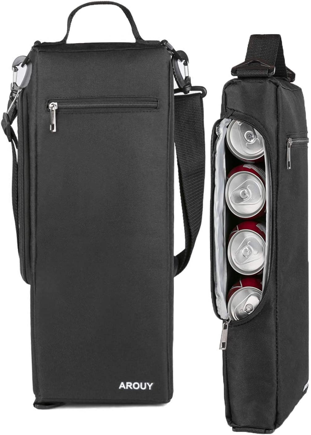 AROUY Golf Cooler Bag - Small Soft Cooler Holds a 6 Pack of Cans or Two Bottles of Wine