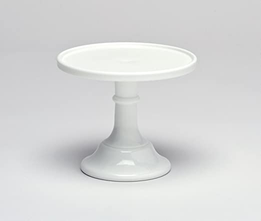 Amazon Com Milk White 9 Glass Cake Stand Made In The Usa By Mosser Glass 9x8x11 Cake Stands