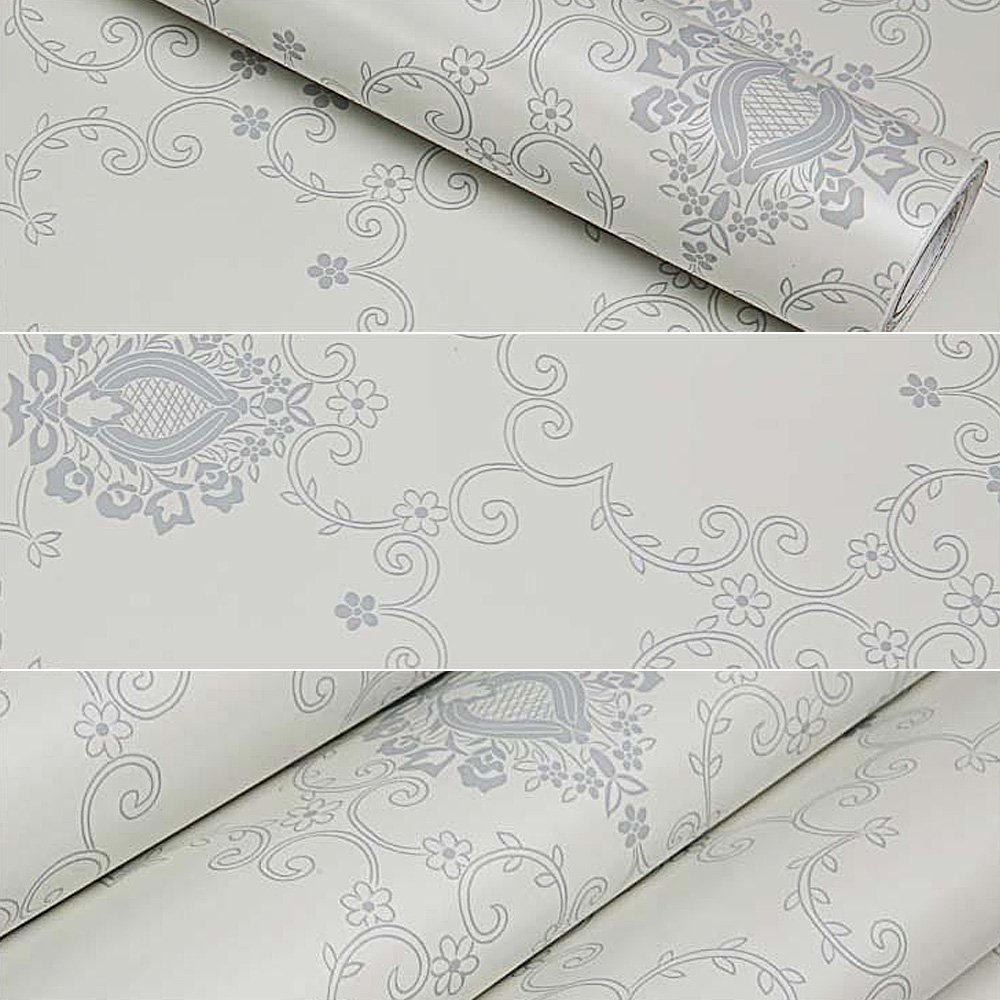 SimpleLife4U Victoria Style Self-Adhesive Shelf Drawer Liner Removable PVC Contact Paper 45x300cm by SimpleLife4U (Image #2)