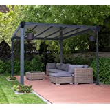 aluminium pavillon berdachung gazebo castel 10x12 362x298 cm bxh sommer. Black Bedroom Furniture Sets. Home Design Ideas