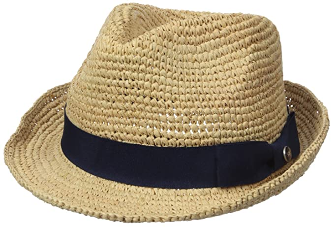 Amazon.com  Ben Sherman Men s Crushable Raffia Straw Hat df0717989cdc