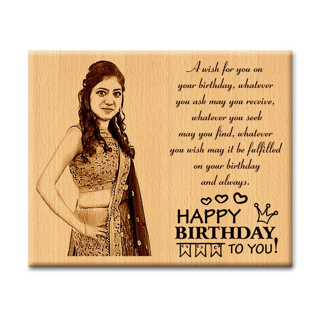 Buy Incredible Gifts India Customized Wooden Happy Birthday Frame Gifts For Girlfriend And Boyfriend 10 X 8 Inch Online At Low Prices In India Amazon In