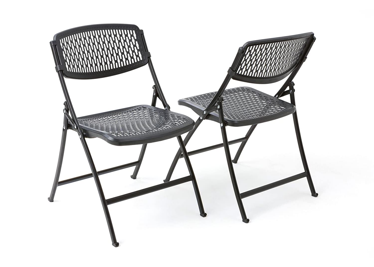 Mity-Lite Flex One Folding Chair, Black, 4-Pack: Industrial & Scientific