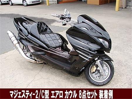 ヤマハ 2/ ワインレッド C SG03J 5型 フロント エアロ マスク マジェスティ250