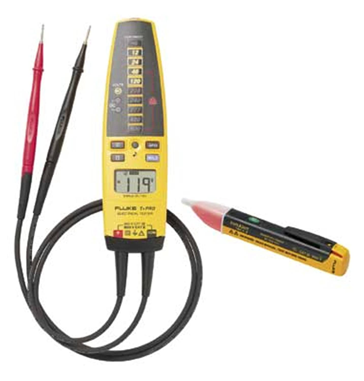 Wiggy Voltage Tester Leads : Fluke t pro ac kit electrical tester and voltage