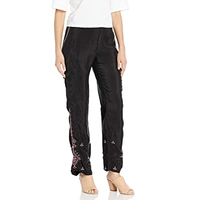 3J Workshop by Johnny Was Women's Rayon Cargo Pants with Embroidery Detail at Women's Clothing store